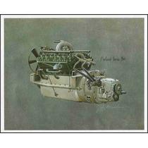 Lienzo Tela Motor Auto Packard Twin Six 1915 50 X 63 Cm