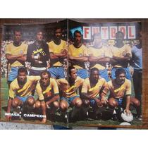 Brasil Campeon Mundial Mexico 70 Poster Revista Futbol Pele