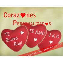 Corazón Cojin Peluche Regalo San Valentin Personalizado
