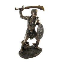 Escultura De Oggun Dios De La Guerra En Acabado Bronce
