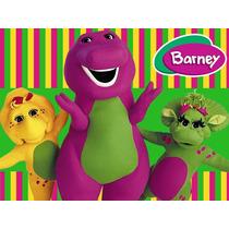 Kit Imprimible Barney Diseña Tarjetas Invitaciones Y Mas