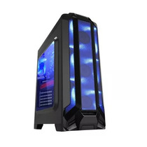 Gabinete Eagle Warrior Gaming Robot Azul Panel Acrilico 3