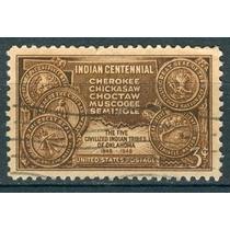 Sc 972 U.s. Año 1948 Mapa De Los Territorios Indios