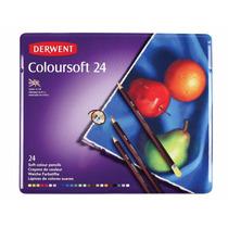Estuche De Colores Derwent Coloursoft Con 24 Lapices