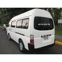 Nissan Urvan 2012 Conversion Nueva Unico Dueño Impecable