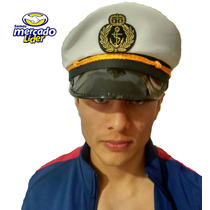 Gorra Capitan Marinero Para Fiesta,sombrero Disfraz,batucada