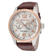 Reloj Invicta I-force Silver Piel Café Acero Inox. 13010