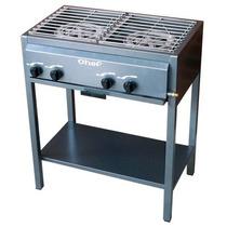 Estufa Chef 2 Quemadores De Gas Sin Alacena Acero Inoxidable