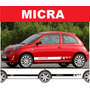 Sticker Vinil Tuning Franja Lateral Decals Nissan Micra