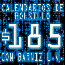 Calendarios De Bolsillo X Millar Color + Barniz U.v. $185