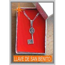 Dije De Plata Llave De San Benito