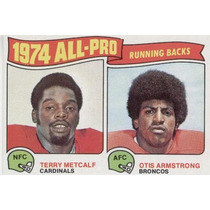 1975 Topps Ap Running Backs Terry Metcalf - Otis Armstrong