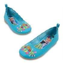 Zapatos Flats Frozen Anna Elsa Disney Store 2015 Hermosos