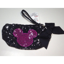 Disney Mickey Bolsa Monedero Cosméticos Celular Lentejuela