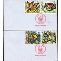 Mexico, Sobre 1er Dia, W W F Mariposa Monarca 1988