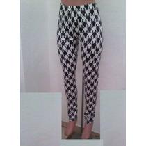 Sexy Moda Leggins Mallas Blanco-negro Brilloso Pantalon