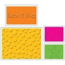 Scrapbook Sizzix Folders Summer Set Compatible Con Cuttlebug