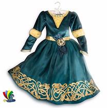 Disfraz Set Merida Valiente Vestido Corona Arco Disney Store