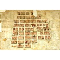 Lienzo Tela Mapa De La Ciudad De México Año 1720 50 X 75 Cm