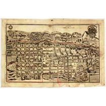 Lienzo En Tela Mapa Ciudad De Querétaro 1796 50 X 75