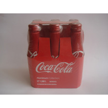 Coleccion 6 Botellas Coca Cola Aluminio Cerradas