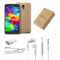 Samsung Galaxy S5 16gb 13mp Dorado Nuevo Liberado Accesorios