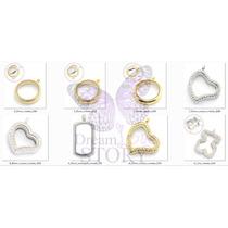Lockets Para Charms Varios Modelos, Chapado En Oro Relicario