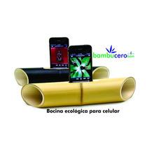 Bocina Para Celular De Bambu