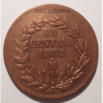 1 Centavo 1888/xx Mo República Mexicana - Con Sobre Fecha