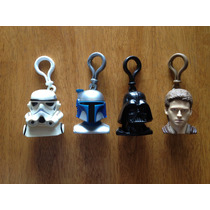 Set De 4 Estuches Porta Paletas Con Llavero De Star Wars
