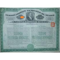 Bono - Ferrocarriles Nacionales De México, $1,000 Oro, 1910