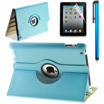 Funda Ipad Apple 4 3 2 Piel 360º Giratoria,case Buen Fin Lfb