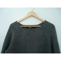 Sweater Donna Karan New York T- L Tejido Gris