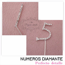 2 Numeros Diamante Ch 15 Años Con Envio Decoracion De Pastel