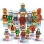 Set A4 Armaduras Iron Man Clear Compatible Con Lego