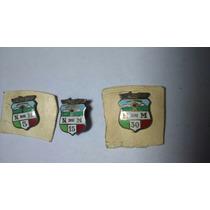 3 Antiguos Pin De Ferrocarriles Mexicano Esmaltados Lot (b