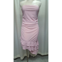 Vestido T.28/30, Palo De Rosa, Strech, Ligero, Straples, Ex