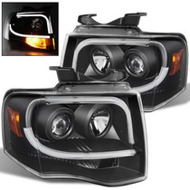 Faros Negros De Lupa Led Ford Expedition 2007 2008 2009 2010