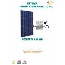 Kit 1 Panel 265 + 1 Microinversor - Modulo Energía Solar