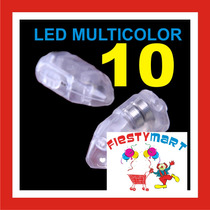 10 Focos Led Para Lampara China Boda Decoración Pantalla Luz