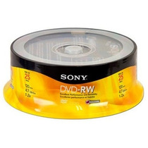 Campana Sony Dvd-rw 1-2x 4.7gb 25 Discos Re-grabables Virgen