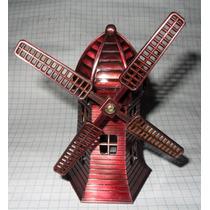 Figura Metal Molino De Viento Holanda Windmills 12.5 Cm