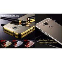 Funda Huawei Gx8 Mate 8 Bumper Aluminio Espejo + Mica Gratis