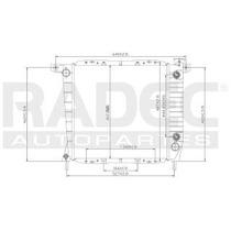 Radiador Ford Ranger 1993-1994 L4 2.0/2.3 Lts Automatico
