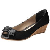 Zapatos R V Roval Lorna Negro Gris Tacon 5 Cm Pv