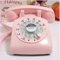 Telefono Glodeals Rosa Estilo Retro Antiguo De 1960