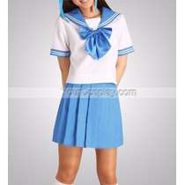 Uniforme Escolar Marinero Anime Cosplay Disfraz