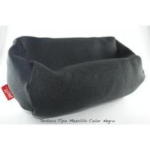 Sillón Puff Sofá Con Cama King 2 En 1 Tipo Mezclilla Negro