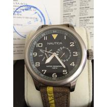Enorme Reloj Nautica Original Segundero Y Dial Independiente