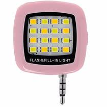 Mini Flash Led Para Celular Para Selfies Rosa